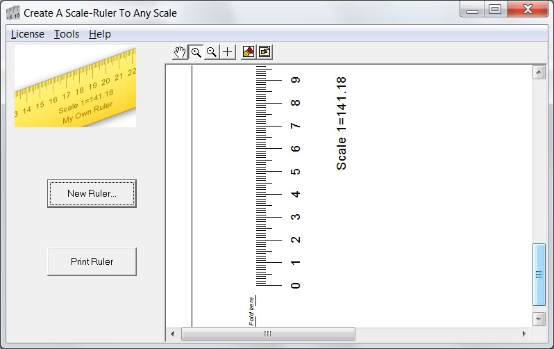 photograph about Printable Architectural Scale called Scale Ruler